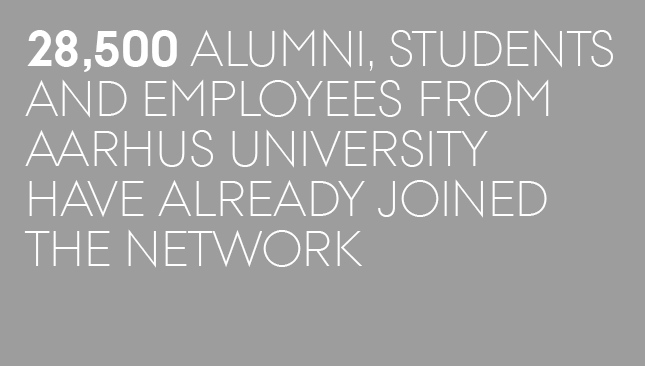 28,500 alumni, students and employees from Aarhus University have already joined the network