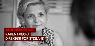 Karen Frøsig, direktør for Sydbank